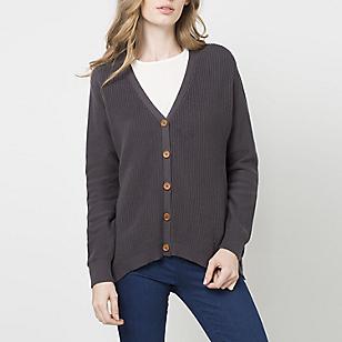 Sweater Cuello en V Detalle Botones
