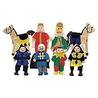 Personajes de Madera Castillo Medieval