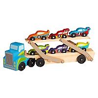 Camión Transportador de Autos de Carrera