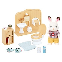 Juguete Chocolate Rabbit Brother Set Washroom