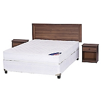 Cama Americana New Entree 2 Plazas Base Normal + Muebles Asturias
