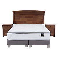 Box Spring Art 2 King Base Dividida + Muebles