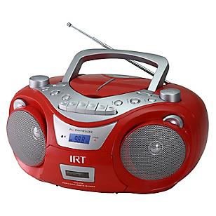 Radio Cassette Boombox Rojo