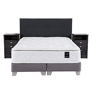 Box Spring Art 6 King Base Dividida + Muebles Spurr