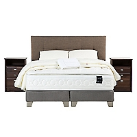 Box Spring 2 Plazas Art 6 Base Dividida + Muebles Spurr