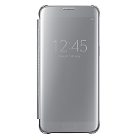 Carcasa S7 Edge Clear View Plateado