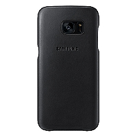 Carcasa S7 Edge Leather Cover Negro