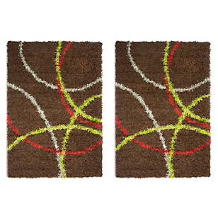 Pack 2 Alfombras New Shaggy 120 x 170 cm