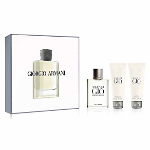 Estuche Aqua Di Gio EDT 100 ML +  Shower Gel 75 ML + After Shave 75 ML