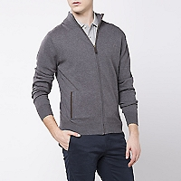 Sweater Cuello Abierto Liso