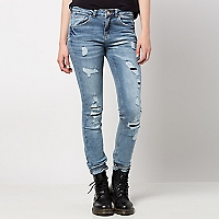 Jeans Parches Full Roturas