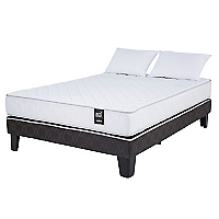 Cama Europea Ergo T 2 Plazas Base Normal + Textil