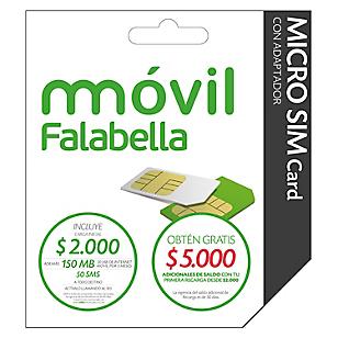 Móvil Falabella Kit Micro SIM Card