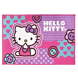 Bajada de Cama Hello Kitty Button 57 x 90 cm