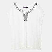 Camiseta Algod�n Abalorios