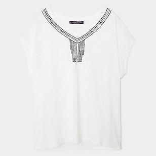 Camiseta Algodón Abalorios