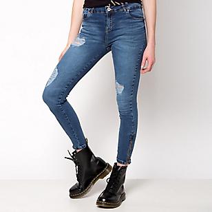 Jeans High Detalle Cierre