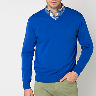 Sweater Liso Cuello en V