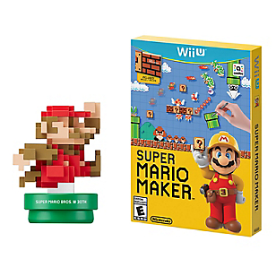 Wii U Super Mario Maker + Amiibo M Classic