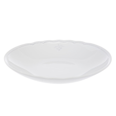 Plato de Sopa Blanco Azeitonas