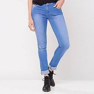 Jeans Mujer Skinny Tiro Alto Dos Botones