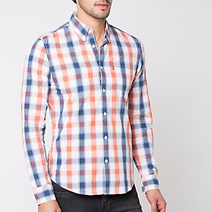 Camisa One Pocket Escocés