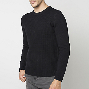 Sweater Cuello Redondo Texturado