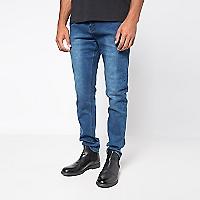 Jeans Hombre 5 Bolsillos Skinny