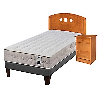 Cama Europea Ortopedic 1,5 Plazas Base Normal + Muebles
