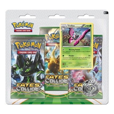 Xy Fates Collide 3-Booster Blister