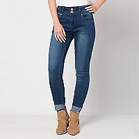 Jeans Mujer Skinny Tiro Medio