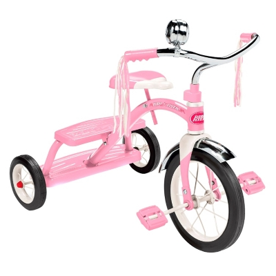 Triciclo Rosado de Acero