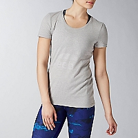 Polera Mujer Brand Foil Gris