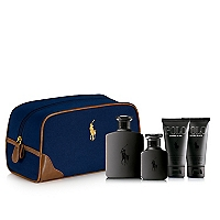 Set Polo Doble Black EDT 125 ML + Polo Doble Black EDT 40 ML + After Shave 50 ML + Gel de Ducha 50 ML