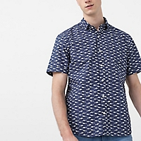 Camisa Slim-Fit Algodón Estampada