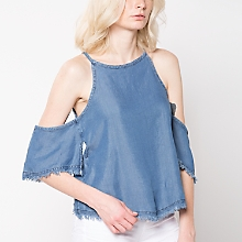 Blusa Shoulder Denim