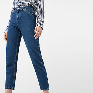 Jeans Relaxed Crop Mum
