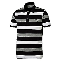 Polera Polo Sports Stripe Jersey Negra