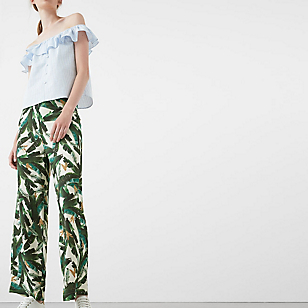 Pantalón Estampado Tropical