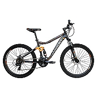 Bicicleta Aro 26 Negro-Naranjo