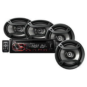 Combo Radio para Auto CD+WAV+MP3+MP4