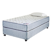 Cama Americana Mica 1,5 Plazas Base Normal + Textil