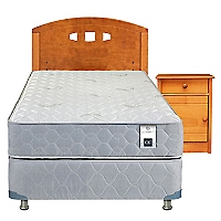 Cama Americana Essence 3 1,5 Plazas Base Normal + Muebles