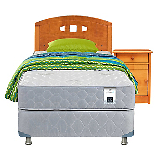 Cama Americana Essence 3 1,5 Plazas Base Normal + Muebles + Textil