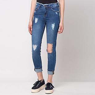 Jeans Desflecado en Pretina
