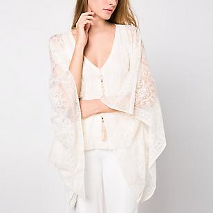 Blusa Larga Transparente Estampado