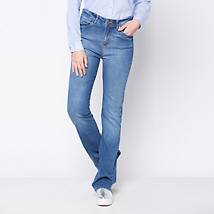 Jeans Bootcut Tiro Alto