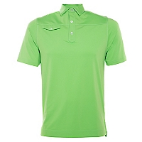 Polera Solid Lisle Faux Pocket Af Fresh Green