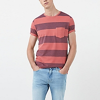 Camiseta Algodón Piqué Rayas