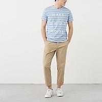 Camiseta Rayas Estampada